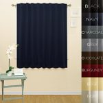 Prestige Home Fashion Wide Width Thermal Insulated Blackout Curtain – Back Tab / Rod Pocket – Navy – 76″W x 63″L, 1 Panel