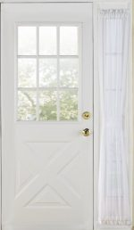 Stylemaster Home Products Elegance Voile Side, 30-Inch by 72-Inch, White