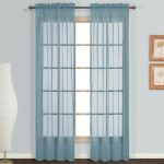 United Curtain Monte Carlo Sheer Window Curtain Panel, 118 by 84-Inch, Slate Blue, Set of 2