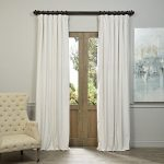 Half Price Drapes VPCH-110602-108 Signature Blackout Velvet Curtain, Off White, 50 X 108