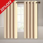 MEROUS Window Treatment Thermal Insulated Solid Grommet Blackout Curtains / Drapes for Bedroom (Set of 2 Panels,5284inch,Yellow)