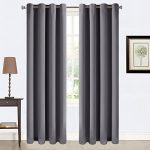 Balichun 2 Panles Blackout Curtains Thermal Insulated Grommets Drapes for Bedroom/ Living Room 52 by 84 Inch Dark Grey