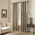 Gorgeous Home *DIFFERENT SOLID COLORS & SIZES* (#72) 2 PANELS SOLID THERMAL FOAM LINED BLACKOUT HEAVY THICK WINDOW CURTAIN DRAPES BRONZE GROMMETS (TAUPE TAN, 84″ LENGTH)