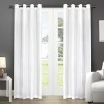 Exclusive Home Chatra Faux Silk Grommet Top Window Curtain Panels, 54″ by 108″, Winter, Sold as Set of 2 / Pair