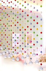 Discount4product Multi Color Crystal 20 string Drop Diamond for partition spaces wedding decoration home decoration