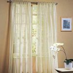 Ivory Beige Cream Off White Voile Sheer Panel Drape Curtain for Your Window Fully Stitched and Hemmed 55×63″