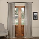 Half Price Drapes SHCH-SS07163-108 Solid Faux Linen Sheer Curtain, Paris Grey, 50 X 108