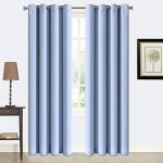 Balichun 2 Panles Blackout Curtains Thermal Insulated Grommets Drapes for Bedroom/ Living Room 52 by 95 Inch Blue