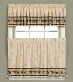 Saturday Knight Pinehaven Window Curtain Tier Pair, 57″ x 36″, Multicolored