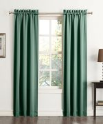 No. 918 Salma Energy Efficient Curtain Panel, Jade, 40 x 84 Inch