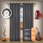 Blackout Weave Embossed Curtain Panels | Block Light And Noise | Best Sleep Of Your Life| Thermal Weaved Room Darkening Fabric Durable Grommets Premium Curtains And Draperies(2 panels 38×84, Charcoal)