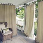 Elrene Home Fashions 026865643114 Indoor/Outdoor Solid Tab Top Single Panel Window Curtain Drape, 52″ x 95″, Taupe