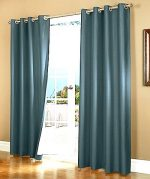 GorgeousHomeLinen *Various of Colors* 1 Piece #72, length 63″ Solid Insulated Foam Backing Lined Blackout Hotel Quality Grommet Top, Shiny Silky Window Curtain Panel (teal blue)