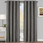 One Top Grommet Blackout Thermal Insulated Curtain Panel, Triple-Pass Foam Back Layer, Elegant and Contemporary Galleria Tonal Stripes Blackout Panel, Gray, 54″ by 84″ Panel