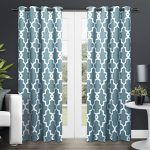 Exclusive Home Ironwork Room Darkening Thermal Grommet Top Window Curtain Panels – 52″ X 84″, Teal, Sold as Set of 2 / Pair