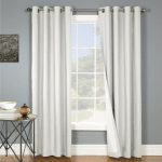 Gorgeous Home (#SYLV) 2 PANELS SOLID PURE WHITE 74″ WIDE X 84″ LONG TOTAL SIZE THERMAL THICK FOAM LINED BLACKOUT CURTAIN DRAPES BRONZE GROMMETS