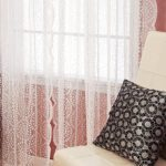 Best Home Fashion Sheer Lace Curtains – Rod Pocket – White – 58″W x 84″L – (Set of 2 Panels)