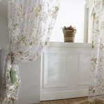 Edal Door Sheer Voile Window Curtain Panel Drape Room Floral Tulle Scarfs Valances Pink with Beads