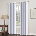 Blackout Window Curtain Panel Grommet Top Drapes 2 Panel Set Room Darkening Thermal Insulated Blackout Window Treatments (52X95inch,Silver Grey)