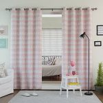 Best Home Fashion Room Darkening Doodle Print Curtains – Stainless Steel Nickel Grommet Top – Pink – 52″W x 84″L – (Set of 2 Panels)
