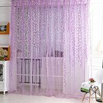 YOOYOO Willow Pattern Voile Tulle Room Window Screening Curtain Sheer Panel Drapes