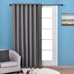 Nicetown Thermal Insulated Wide Width Solid Blackout Curtain / Drapes,Sliding door insulated curtain,Extra Wide curtain (One Panel,100 x 84-Inch,Grey)