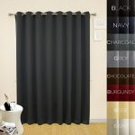 Prestige Home Fashion Wide Width Thermal Insulated Blackout Curtain – Antique Bronze Grommet Top – Charcoal – 100