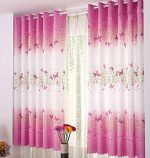 Butterfly Calico Finished Product Cloth Window Screens Curtain,KESEE