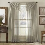 MONAGIFTS TWO PANELS 55 WIDE X 95″ LENGTH GRAY SILVER 2 Piece Solid SHEER PANEL with ROD POCKET – Window Curtain Treatment 95″ LENGTH