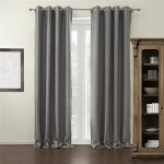 IYUEGOU Modern Grey Solid Grommet Top Blackout Curtains Draperies With Multi Size Customs 50″ W x 102″ L (One Panel)