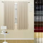 Prestige Home Fashion Thermal Insulated Blackout Curtain – Back Tab / Rod Pocket – Ivory – 52″W x 63″L, 1 Panel