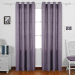 Deconovo Curtains for Bedroom Recycled Cotton Grommet Window Curtains 2 Panels 52 W x 95 L Royal Purple