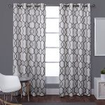 Exclusive Home Kochi Linen Blend Grommet Top Window Curtain Panels 54″ X 84″, Black Pearl, Set of 2 / Pair