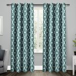 Exclusive Home Gates Room Darkening Thermal Grommet Top Window Curtain Panels, Teal, 52″ x 84″, Set of 2 / Pair