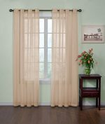Arm and Hammer Curtain Fresh Odor Neutralizing Sheer Curtain Panel, 63-Inch, Latte (Single panel)
