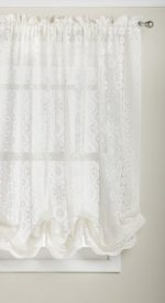 Lorraine Home Fashions Hopewell Lace Window Shade, 58-Inch by 63-Inch, Cream