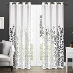 Exclusive Home Wilshire Burnout Sheer Grommet Top Window Curtain Panels – 54″ x 84″, Sold As Set of 2 / Pair