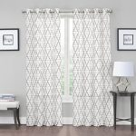 2 Pack: Kendall Luxurious Trellis Crushed Grommet Sheer Voile Curtains by GoodGram® – Assorted Colors (Neutral)
