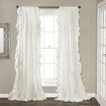 Lush Decor Reyna Window Curtain Panel Pair, 84″ x 54″, White