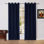 Lullabi Solid Thermal Blackout Window Curtain Drapery, Grommet, 84-inch Length by 54-inch Width, NAVY, (Set of 2 Panels)
