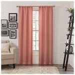 PAIRS TO GO 16433052095CRL Ibiza 2 Pack Window Curtains,Coral,52×95