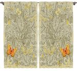 House Decor Paisley Curtains for Bedroom Living Room Curtains Two Panels Set Modern Family and Couples Art Prints Butterfly 108 X 90 Inch Curtains, Sand Yellow Orange