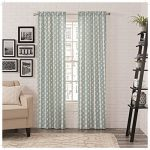 PAIRS TO GO 16388056X063PCK Zeya Window Curtains (2 Pack), 56 x 63″, Peacock