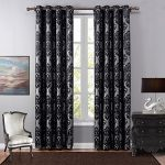SXSHOME Room Darkening Blackout Thermal Insulated Treatment Blocker Window Curtains Panel and Drapes for Bedroom and Living Room(52 By 84 Inch,1 Panel,Black)