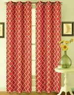 GorgeousHomeLinen K22 1 PC Red White Modern Printed Design 35″ Width X 84″ Length Room Darkening Insulated Blackout Window Curtain Drape Panel