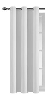 Ifblue Best Room Darkening Thermal Insulated Grommet Window Curtains -Blackout Curtains Drapes for Bedroom, Living Room, Kids Room-1 Panel 42 X 63 Inch, Offwhite