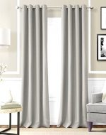 Gorgeous Home ** AVAILABLE IN DIFFERENT SIZES & COLORS ** (#60) 1 PANEL SOLID LINED FOAM BLACKOUT HEAVY THICK WINDOW TREATMENT CURTAIN DRAPES SILVER SOLID GROMMETS (84″ LENGTH, SILVER GRAY)