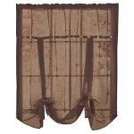 Sheer Tie Up Shade Curtain, Chocolate