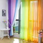 2 Piece Beautiful Sheer Window Elegance Tulle Voile Curtains/drape/panels/Green