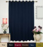 Navy Wide Width Antique Brass Grommet Top Thermal Insulated Blackout Curtain 100 Inch Wide By 96 Inch Long Panel